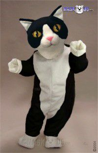 Black & White Cat Mascot Costume 43088