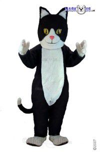 Black & White Cat Mascot Costume T0039