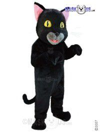Black Cat Mascot Costume T0037