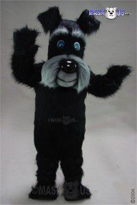 Black Terrier Mascot Costume 45128