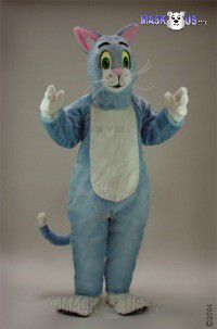 Blue Cat Mascot Costume 43086