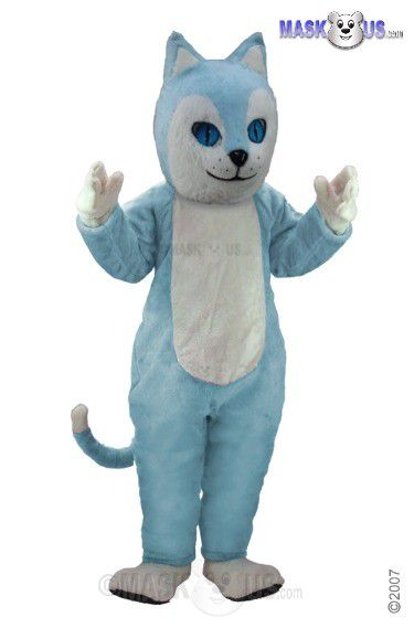 Blue Cat Mascot Costume T0040