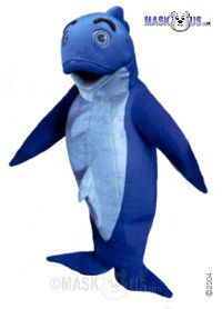 Blue Fish Mascot Costume 47702