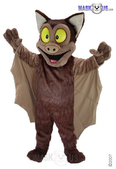 Brown Bat Mascot Costume T0190