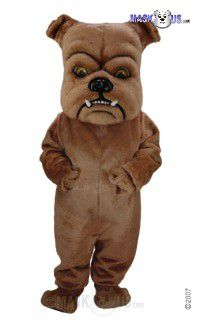 Brown Bulldog Mascot Costume T0073
