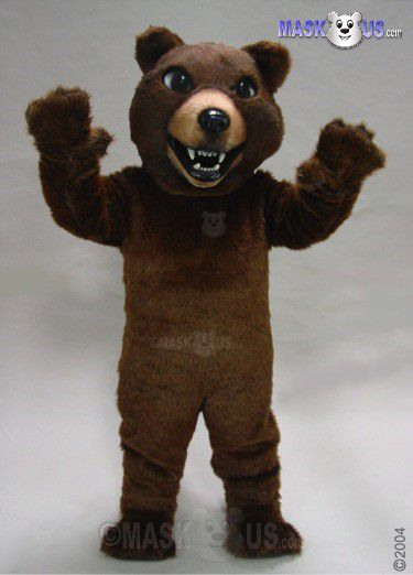 Brown Grizzly Mascot Costume 21032