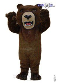 Brown Grizzly Mascot Costume T0043