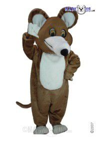 Brown Mouse Mascot Costume T0068