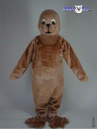 Brown Seal Mascot Costume 47323