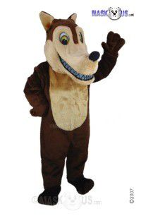Brown Wolf Mascot Costume T0106