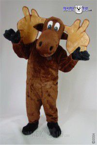 Cartoon Moose Mascot Costume 48156