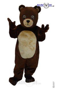 Chocolate Bear Mascot Costume T0046