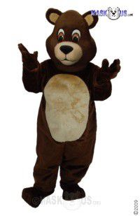 Chocolate Teddy Mascot Costume 41444
