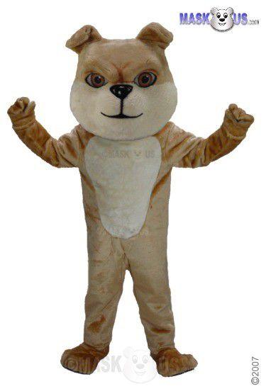Cream Bulldog Mascot Costume T0075  sc 1 st  Mask US & Cream Bulldog Deluxe Adult Size Bulldog Mascot Costume - T0075 ...