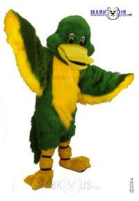 Green Duck Mascot Costume T0444