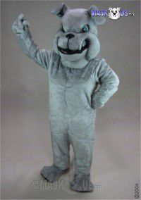 Grey Bulldog Mascot Costume 25426