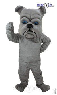 Grey Bulldog Mascot Costume T0071