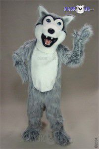 Grey Husky Mascot Costume 25121