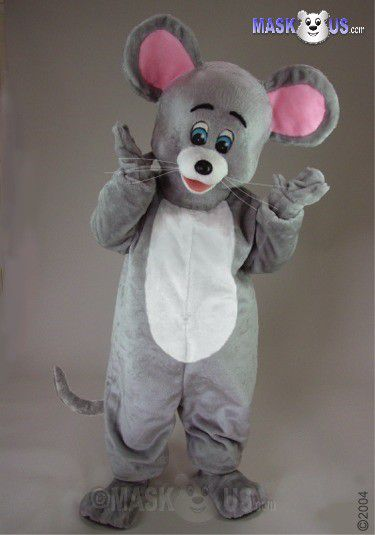 Grey Mouse Mascot Costume 42264