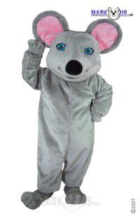 Grey Mouse Mascot Costume T0069