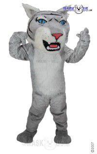 Grey Wildcat Mascot Costume T0019