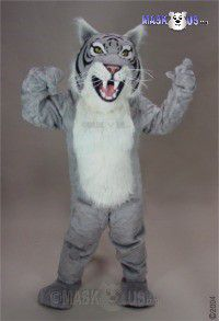 Grey Wildcat Mascot Costume 23083