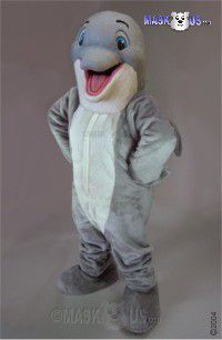 Happy Dolphin Mascot Costume 47319