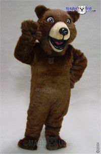 Happy Grizzly Mascot Costume 41032