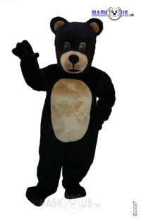 Jr Black Bear Mascot Costume T0049