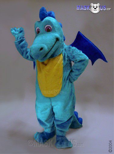 Lt Blue Dragon Mascot Costume 46108