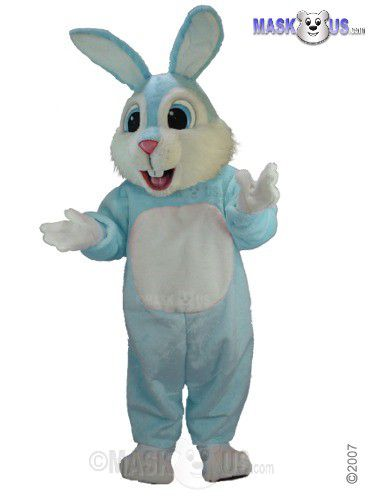 Light Blue Rabbit Mascot Costume T0232
