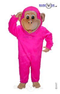 Pink Chimp Mascot Costume T0176
