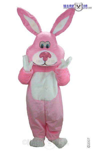 Pink Cottontail Mascot Costume T0256