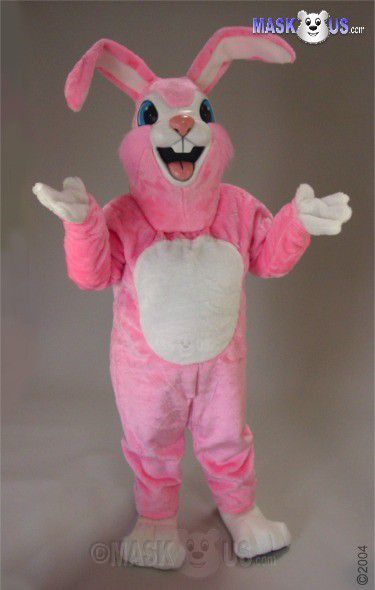 Pink Rabbit Mascot Costume 45003