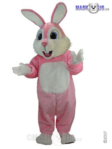 Pink Rabbit Mascot Costume T0234