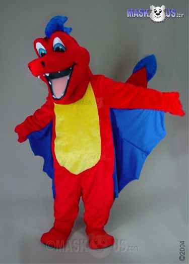 Red Dragon Mascot Costume 46107