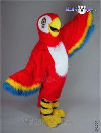 Red Macaw Mascot Costume 42087