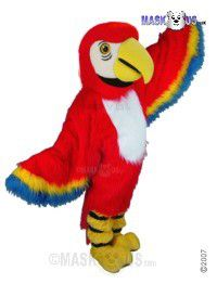 Red Macaw Mascot Costume T0150
