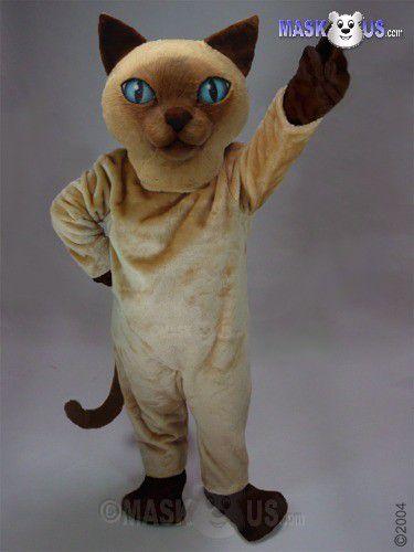 siamese cat deluxe adult size cat mascot costume 43089