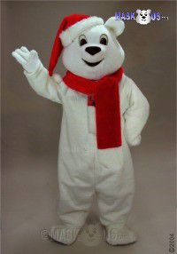 Snow Bear Mascot Costume 41417