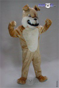 Tan Bulldog Mascot Costume 45427