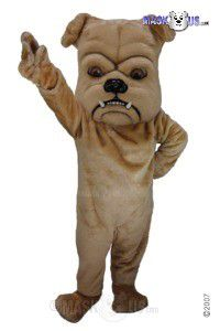 Tan Bulldog Mascot Costume T0072