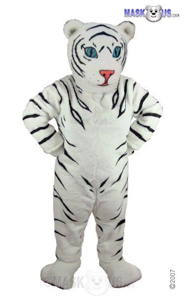 White Tiger Cub Mascot Costume T0009