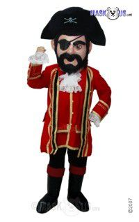 Captain Jack Mascot Costume T0295