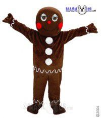 Gingerbread Man Mascot Costume 44345