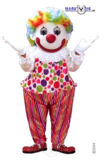 Happy Clown Mascot Costume 49197