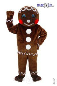 Mr Gingerbread Mascot Costume T0267