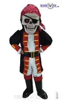 Skull Pirate Mascot Costume T0273